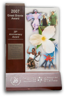 Ontario Trillium Foundation 25th Aniversary Award